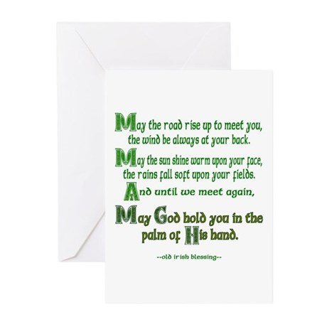 "Irish Blessing ""May the Road"" Greeting Cards (Pack"