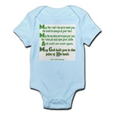 """Irish Blessing """"May the Road"""" Infant Creeper"""