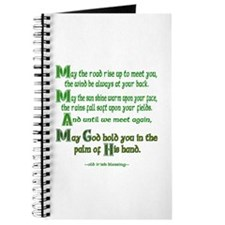 """Irish Blessing """"May the Road"""" Journal"""