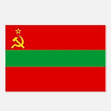 Transnistria Flag Postcards (Package of 8)