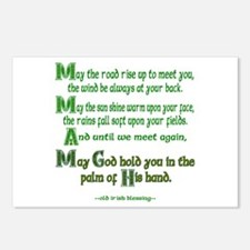"Irish Blessing ""May the Road"" Postcards (Package o"