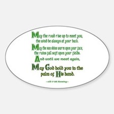 "Irish Blessing ""May the Road"" Oval Decal"