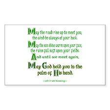 """Irish Blessing """"May the Road"""" Sticker (Rectangular"""