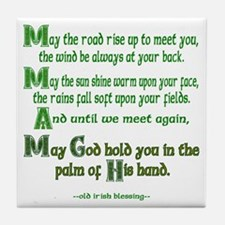 "Irish Blessing ""May the Road"" Tile Coaster"