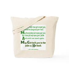 "Irish Blessing ""May the Road"" Tote Bag"