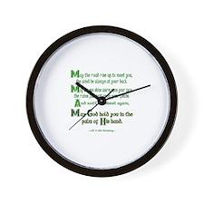 """Irish Blessing """"May the Road"""" Wall Clock"""
