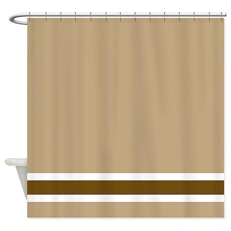 Brown Stripe Shower Curtain By FantasyArtDesigns
