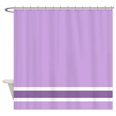 Purple Stripe Shower Curtain By Fantasyartdesigns