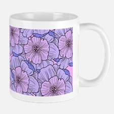 Many Flowers Pastel Mugs