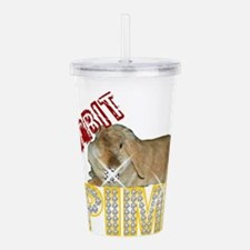 Rabbit Pimp Acrylic Double-wall Tumbler