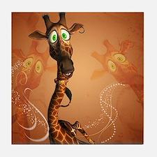 Funny giraffe Tile Coaster