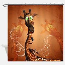Funny giraffe Shower Curtain