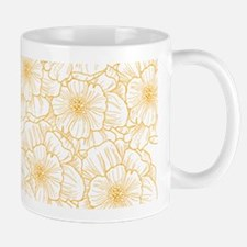 Fany Flowers Orange Mugs