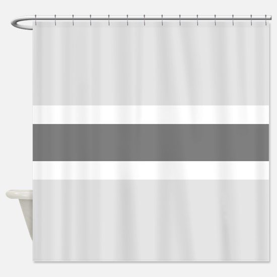 gray and white striped shower curtain. Gray Stripe Shower Curtain And White Stripes Curtains  CafePress