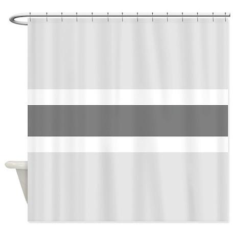 Gray Stripe Shower Curtain