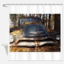 Sad Old Blue Chevy Shower Curtain