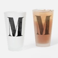Vintage grungy letter M Drinking Glass