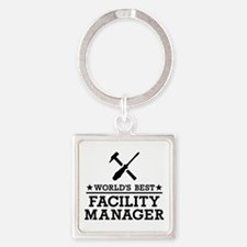 World's best Facility Manager Square Keychain