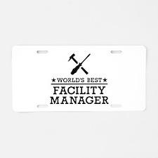 World's best Facility Manag Aluminum License Plate