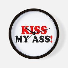 KISS MY ASS! - Wall Clock