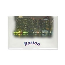 Cute Boston skyline reflections Rectangle Magnet