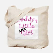 Daddy's Little Lax Girl Tote Bag