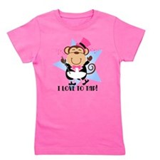 Monkey Tap Dancer Girl's Tee