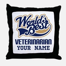 Veterinarian Personalized Throw Pillow