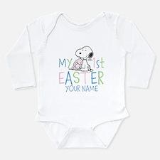 Snoopy - My 1st Easter Long Sleeve Infant Bodysuit