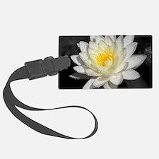 Unique Black white flower Luggage Tag
