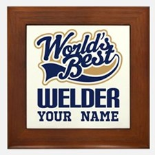 Worlds Best Welder gift Framed Tile