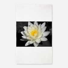 Funny Black and white flower Area Rug