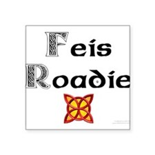 "Unique Feis Square Sticker 3"" x 3"""