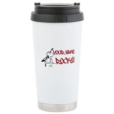 Snoopy Rocks - Personal Stainless Steel Travel Mug