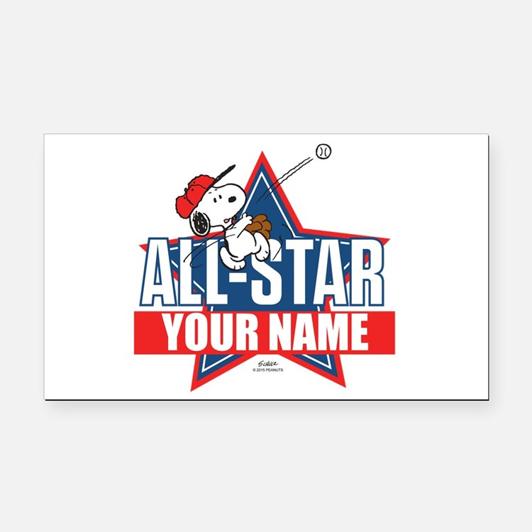 Snoopy All Star - Personalize Rectangle Car Magnet