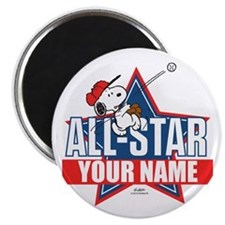 Snoopy All Star - Personalized Magnet