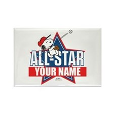 Snoopy All Star - Personalized Rectangle Magnet