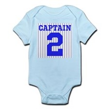 CAPTAIN #2 PINSTRIPES JETER Infant Bodysuit