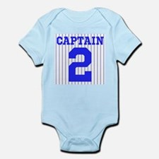 CAPTAIN #2 PINSTRIPES JETER Infant Bodysuit