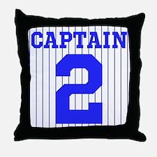 CAPTAIN #2 PINSTRIPES JETER Throw Pillow