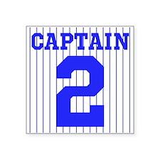 "CAPTAIN #2 PINSTRIPES JETER Square Sticker 3"" x 3"""