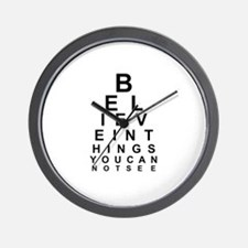 EYE CHART - BELIEVE IN THE THINGS YOU C Wall Clock