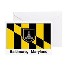 Baltimore MD Flag Greeting Card
