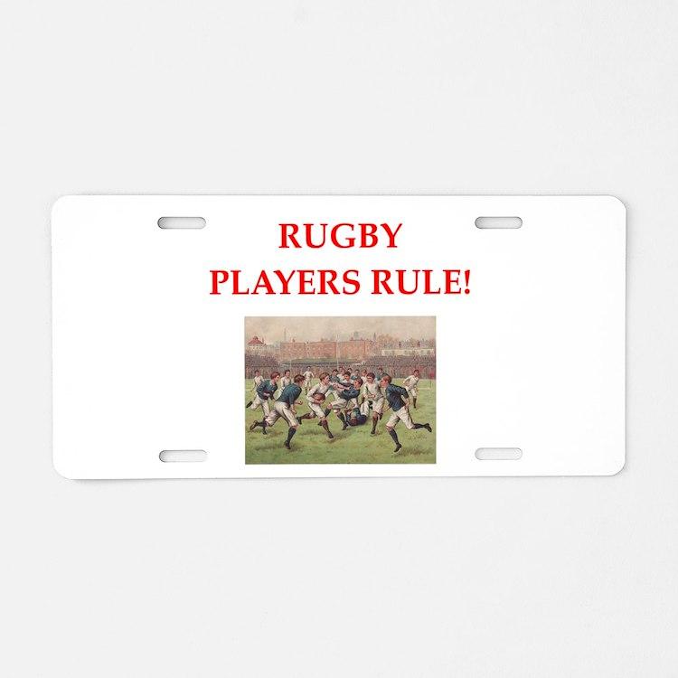 rugby joke Aluminum License Plate