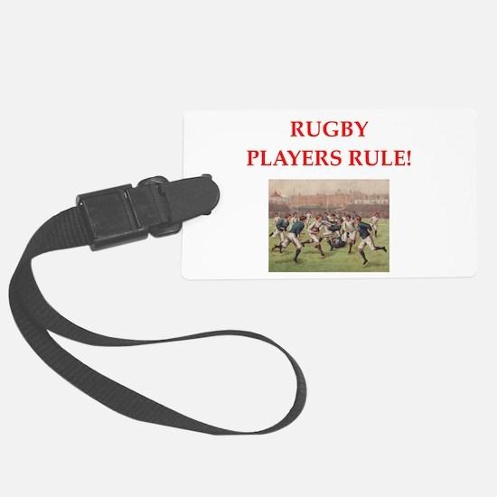 rugby joke Luggage Tag
