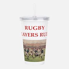 rugby joke Acrylic Double-wall Tumbler