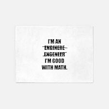 Engineer Good With Math 5'x7'Area Rug
