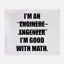 Engineer Good With Math Throw Blanket