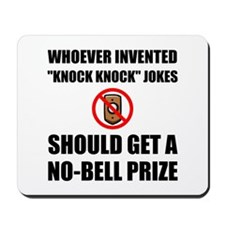 Knock Knock Joke No Bell Mousepad