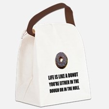 Life Like Donut Canvas Lunch Bag